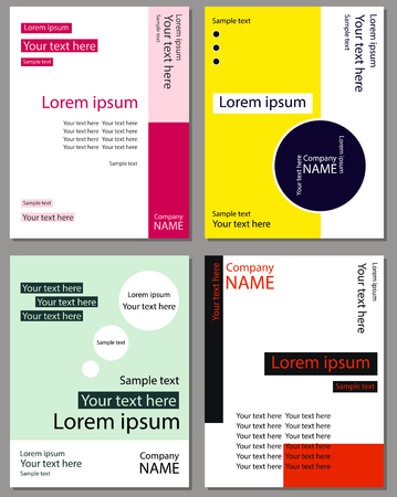 A set of cards for text. Blank leaflet in a corporate style. Illustration