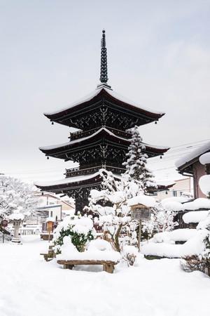 Hida Kokubunji Temple Pagoda in Takayama. 報道画像