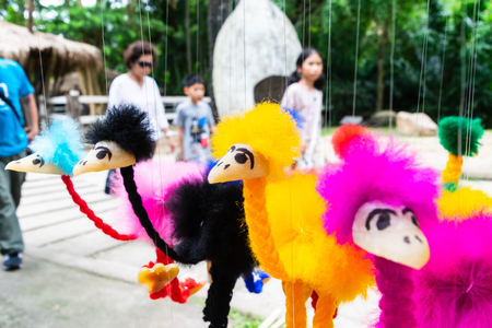 Colourful of ostrich dolls. Banque d'images - 105571185