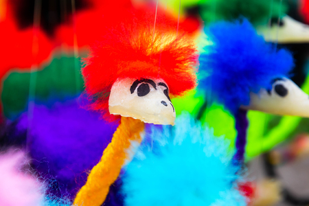 Colourful of ostrich dolls. Banque d'images - 105571187