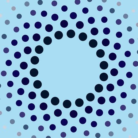 blue circles: Blue circles frame. Vector illustration