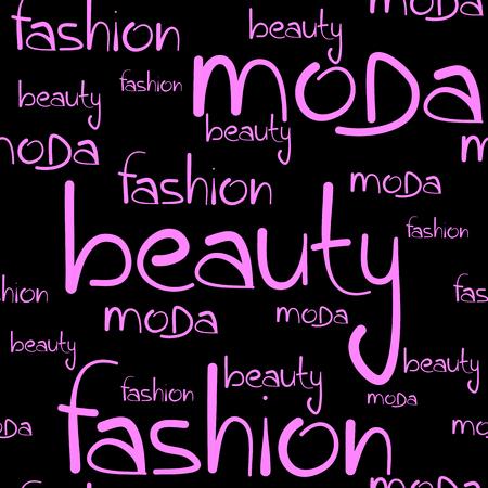 Text fashion seamless. Vector illustration