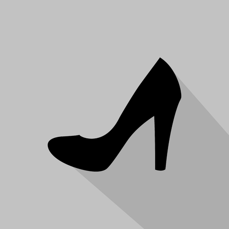 fashionably: Womens pump monochrome icon. Vector illustration Illustration