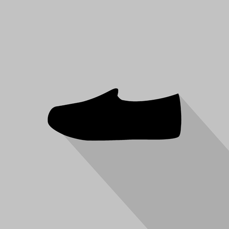 fashionably: Womens slip-on monochrome icon. Vector illustration