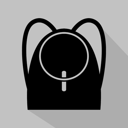 fashionably: Womens black backpack icon. Vector illustration Illustration
