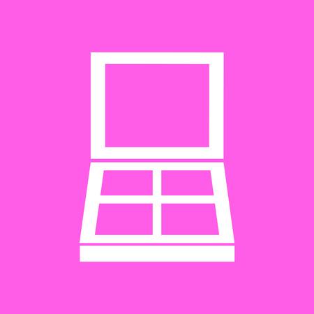 eye shadow: Makeup eye shadow pink icon. Vector illustration