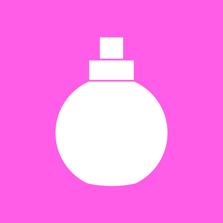 fashionably: Makeup perfume pink icon. Vector illustration Illustration