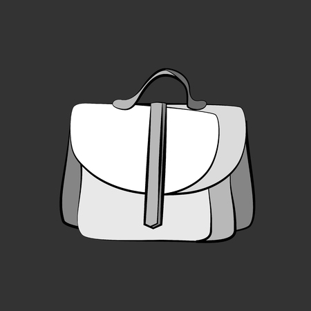 fashionably: Womens grey bag icon. Vector illustration