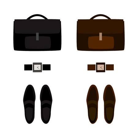 mens: Set of trendy mens accessories. Mens wardrobe. Vector illustration