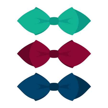 mens clothing: Set of  three trendy mens tie. Mens accessories. Vector illustration