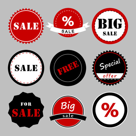 fashionably: Set of sale banners. Sale tags. Shopping. Vector illustration