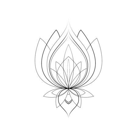 Ethnic Mandala ornament isolated on white background. Henna tattoo design. Vector illustration Иллюстрация