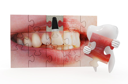 dental research: funny dentistry Stock Photo