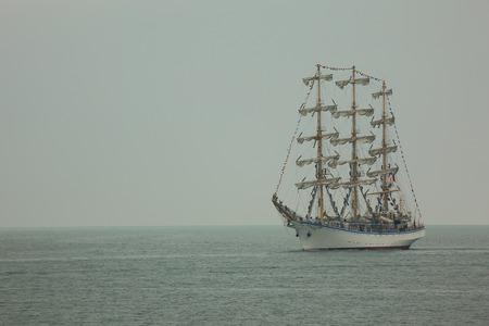 Old sailing ship photo