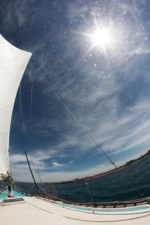 tripping: beautiful background of the sails, sky and sun
