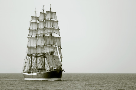 beautiful old sailing ship