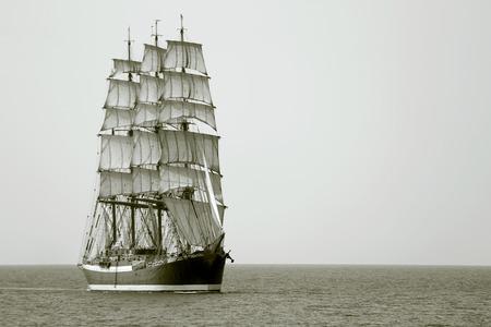 sailing: beautiful old sailing ship