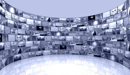 media background - telecommunications and TV