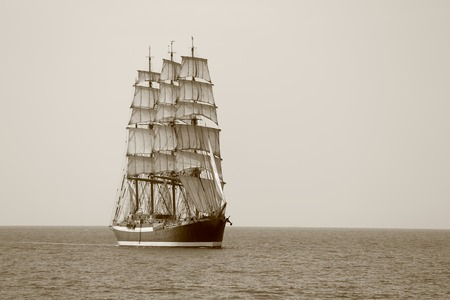 tripping: old sailing ship on the high seas