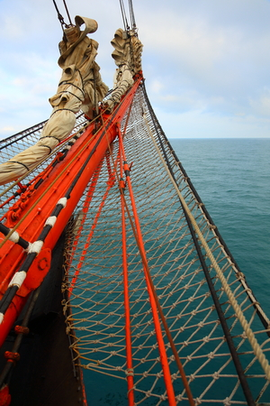 bowsprit: bowsprit an old sailing ship