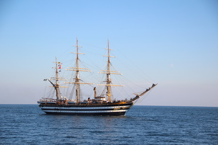 tripping: beautiful Italian sailing ship on the high seas