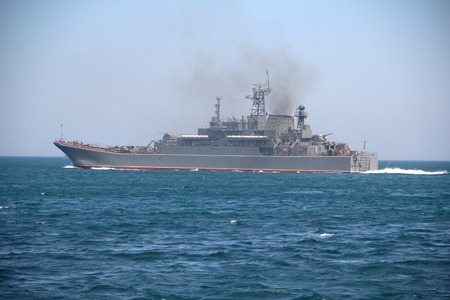 warship - Russian military ship for amphibious assault