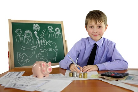 biznets concept - boy is a business project Stock Photo