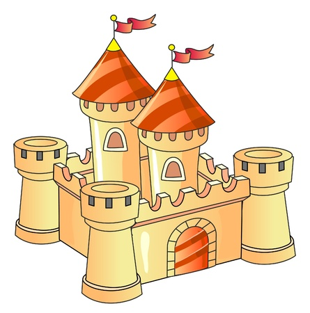 fantasy castle; old architecture; kingdom Vector