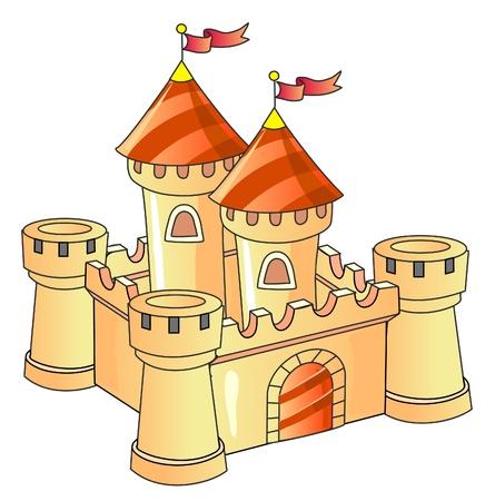 fantasy castle; old architecture; kingdom Illustration