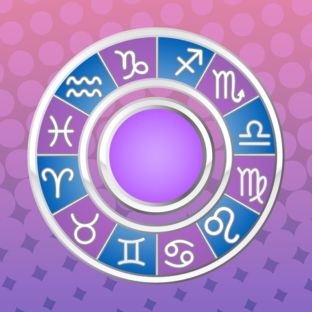 astrology circle; all signs of the zodiac; vector illustration Stock Vector - 13204728