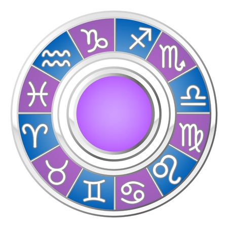 aquarius star: astrology circle; all signs of the zodiac; vector illustration