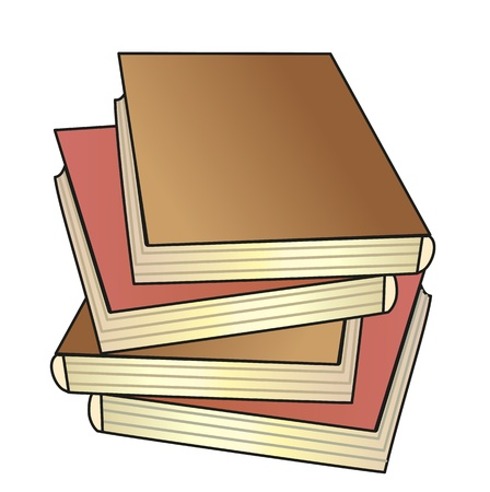 bookish: pile of the books; vector illustration; isolated icon Illustration