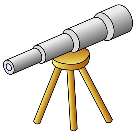 telescope icon; vector illustration; isolated Stock Vector - 13204741