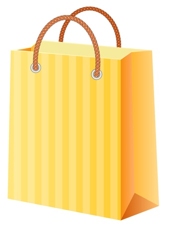 shopping bag; vector illustration; isolated