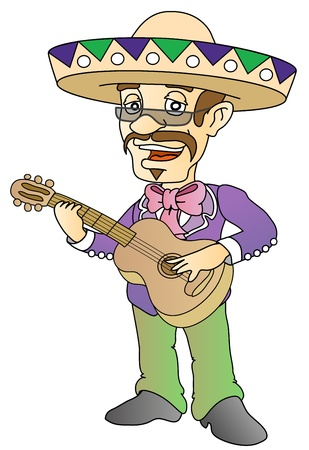 mexican musician Vector