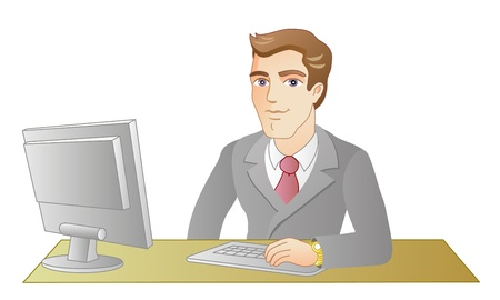 manager cartoon: businessman Illustration