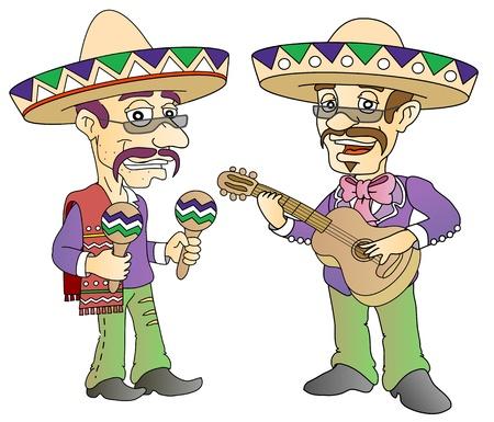 Mexican musician Illustration