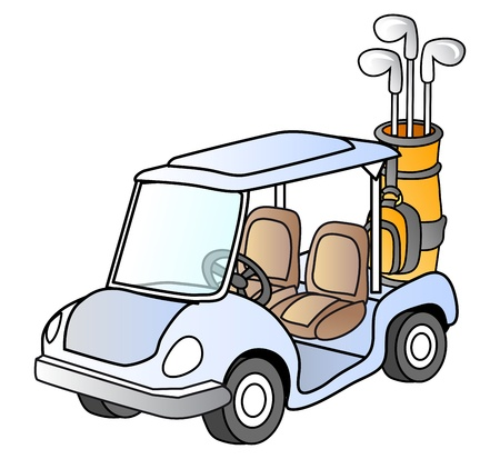 Golf car, , sport vehicle Vector