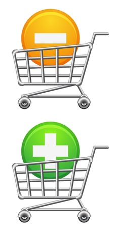 shoppingcart icon, button, sale, isolated illustration