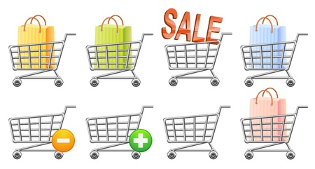 shoppingtrolley: shoppingcart icon, button, sale, isolated illustration