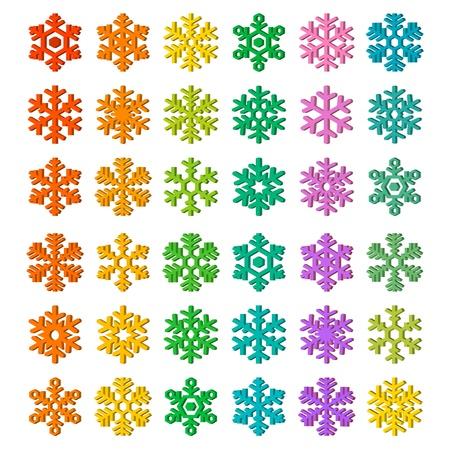 illustration, Snowflake Icon Illustration