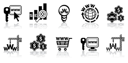 Web-design icon set, web-studio icon set illustration Vector