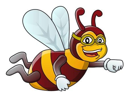 avispa: Flying abejorro, Ilustración, aislado Vectores