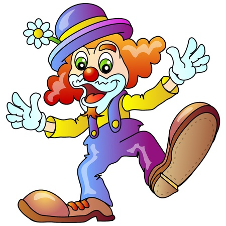 Cheerful Clown Illustratio Isolated Vector