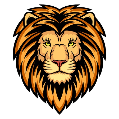 A Lion head logo  This is illustration ideal for a mascot and tattoo or T-shirt graphic  Vector