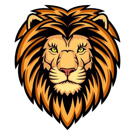 Una cabeza logo Lion Esta es la ilustración ideal para una mascota y el tatuaje o una camiseta gráfica
