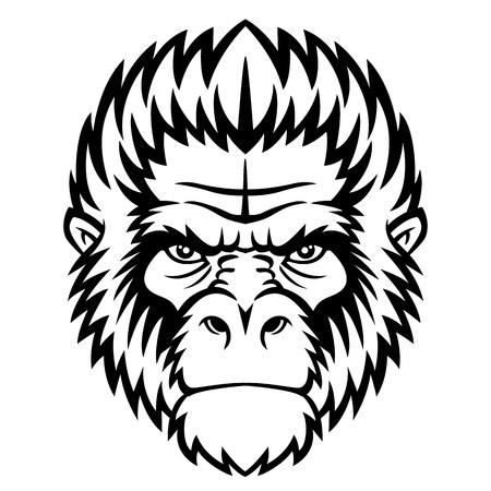 silueta mono: Ape cabeza