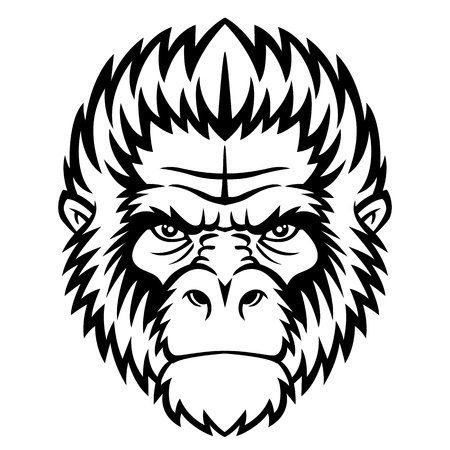 Ape head  Vector