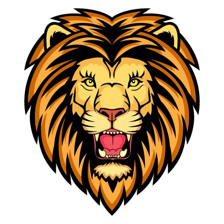 whisker: A Lion head logo  This is vector illustration ideal for a mascot and tattoo or T-shirt graphic