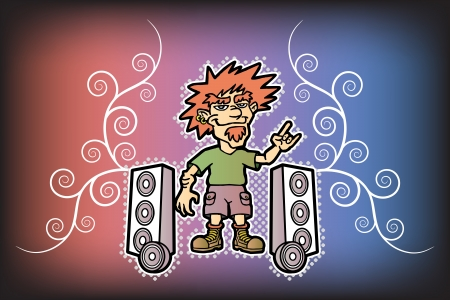 woofer: Funny rocker. Super sub woofer. Rock style.